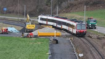 Momentan wird ein Trassee für den Werkverkehr gebaut.