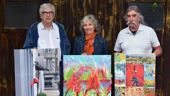 Walter Zimmerli, Anne-Marie Grenacher und Peter Bolliger (v.l.). Hans Rechsteiner.