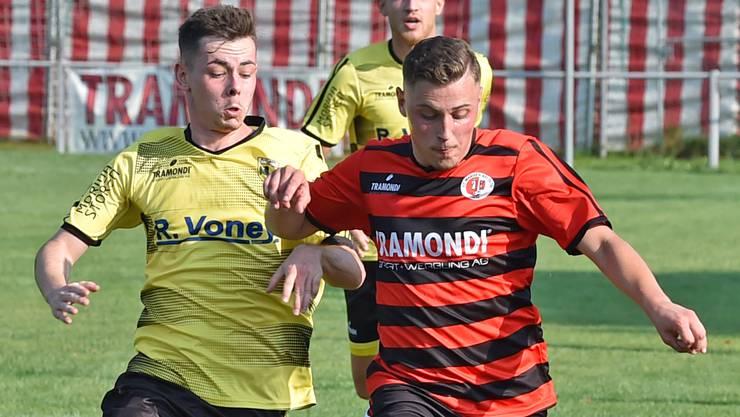 Wangens Hamdi Nedzipi (rechts) erzielte gegen seinen Ex-Club Dulliken das 1:0.
