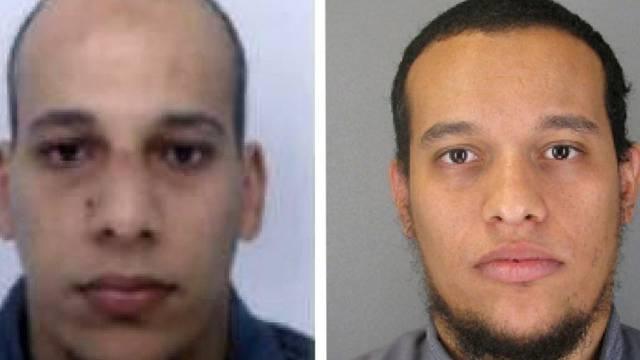 Die Attentäter und Brüder Chérif (l.) und Said Kouachi (Archiv)