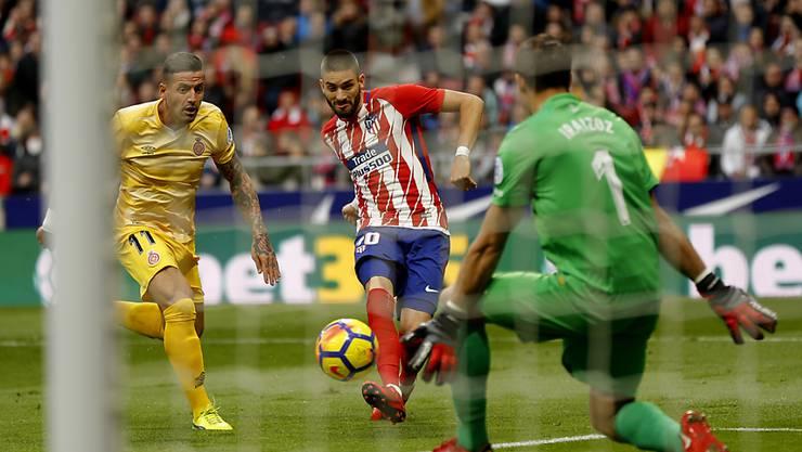 Kein Durchkommen für Atletico: Yannick Carrasco scheitert an Girona-Keeper Gorka Iraizoz