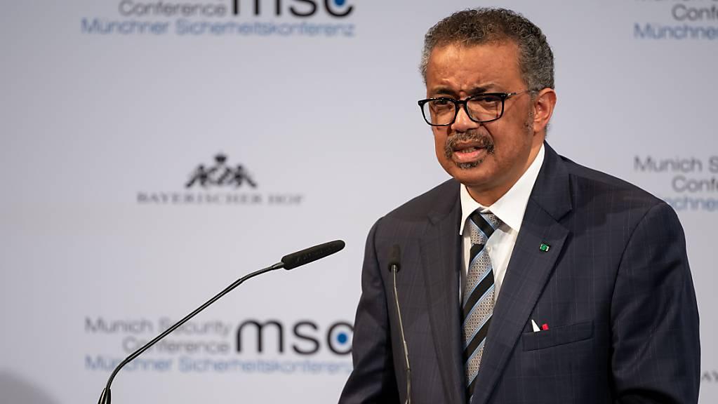 Tedros Adhanom Ghebreyesus, Generaldirektor der Weltgesundheitsorganisation (WHO), spricht auf der Münchner Sicherheitskonferenz im letzten Jahr.