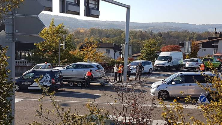 Unfall in Bremgarten - Nähe Coop-Tankstelle
