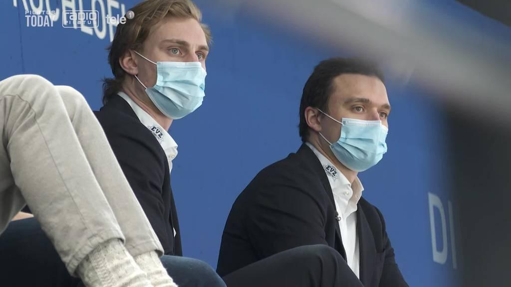 Wie die beiden verletzten Spieler für ihren Verein mitfiebern