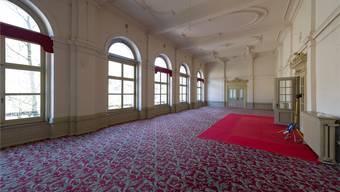 Vieles lässt den früheren Glanz des Verenahofs erahnen, zum Beispiel der Teppichboden im Speisesaal.