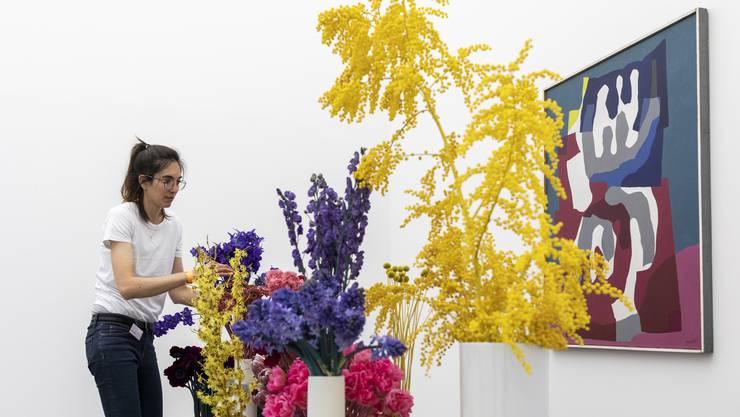 Im Aargauer Kunsthaus blüht es wieder: 14 Floristinnen und Floristen haben am Montag ihre Werke aufgebaut. Die AZ war dabei.