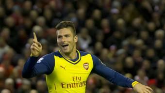 Arsenal-Stürmer Olivier Giroud traf zum 2:0-Schlussresultat