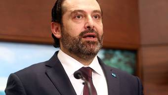Der libanesische Ministerpräsident Saad Hariri bei der Vorstellung seiner neuen Regierung.