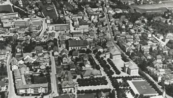 Diese Luftaufnahme des Stadtzentrums entstand im Jahr 1951 oder 1952.