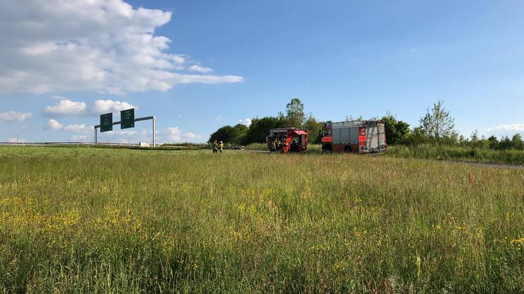 Die Absturzstelle befindet sich unmittelbar bei der Autobahn A1.