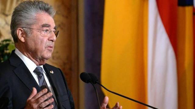 Österreichs Bundespräsident Heinz Fischer am Montag bei seiner Rede