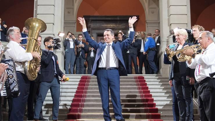 Moment des Triumphs: Am 20. September schafft Ignazio Cassis (FDP) die Wahl in den Bundesrat.