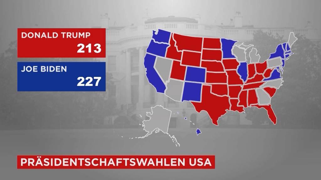Präsidentschaftswahl in den USA: Trump holt mehr Stimmen als erwartet