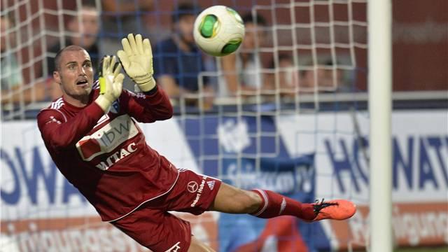 Goalie Ivan Benito zeigte einige gute Paraden, war beim Penalty aber machtlos.