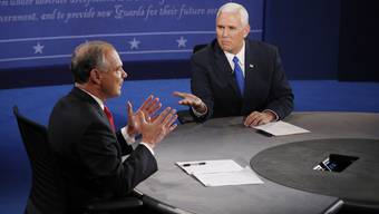 Impressionen der TV-Debatte der US-Vizepräsidentschaftskandidaten