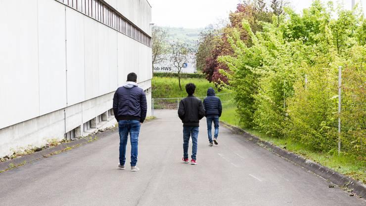 Asylunterkunft im ehemaligen A3-Werkhof in Frick. (Archivbild)