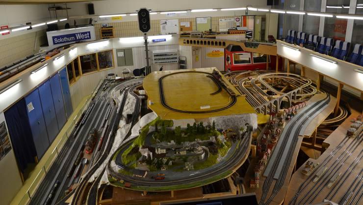 Die gesamte Anlage der Solothurner Eisenbahn-Amateure