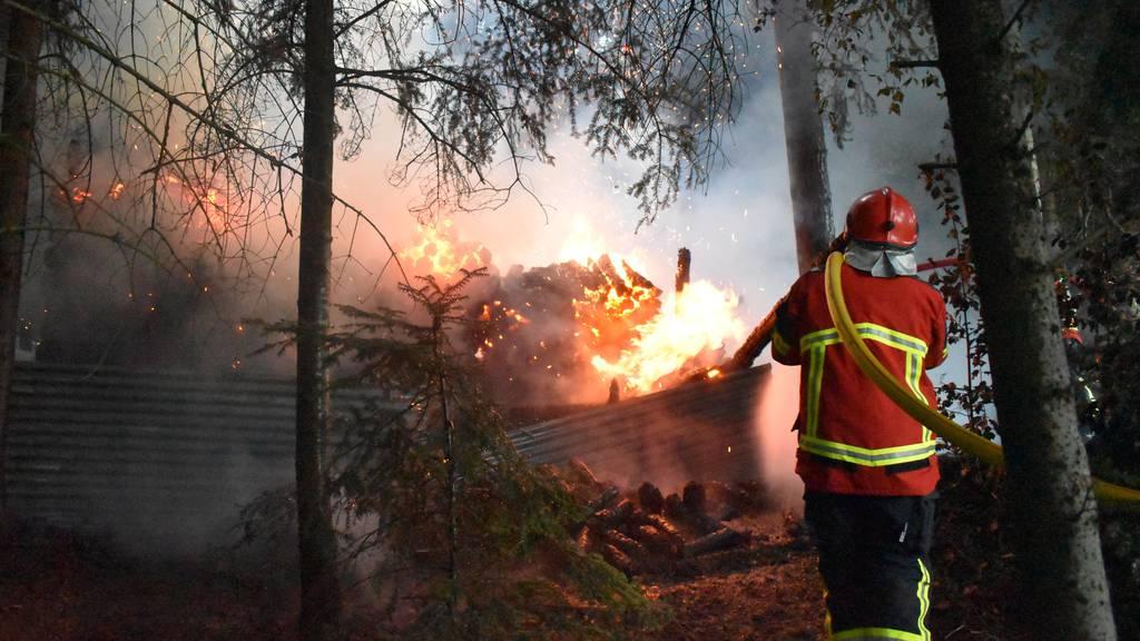 Zwei Jugendliche für Brand von Holzunterstand verantwortlich