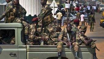 Zentralafrikanische Soldaten in der Hauptstadt Bangui