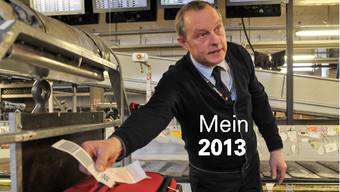 Ein kurzer Blick von Stefan Lauber auf die Etikette genügt: «Dieser Koffer geht nach Berlin.»