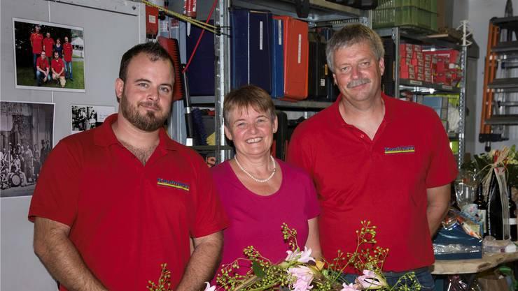 Marc Kaufmann, Astrid Kaufmann-Frank und Peter Wenger (v.l.) sind nun zu dritt die Inhaber der Kaufmann Söhne GmbH.