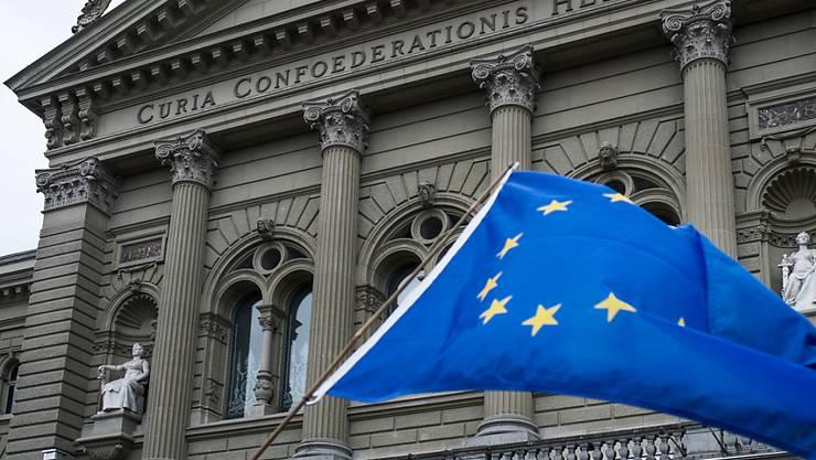 Der Ständerat verlangt vom Bundesrat substanzielle Verbesserungen beim institutionellen Abkommen mit der EU.(Archivbild)