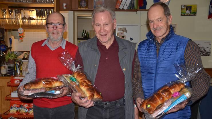 Das Siegertrio v.l.n.r.: 2. Rang, Heinz Waldmeier, 1. Rang, André Allemann, 3. Rang, Melchior Moser
