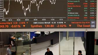 An den Börsen geht es turbulent zu (Archiv)