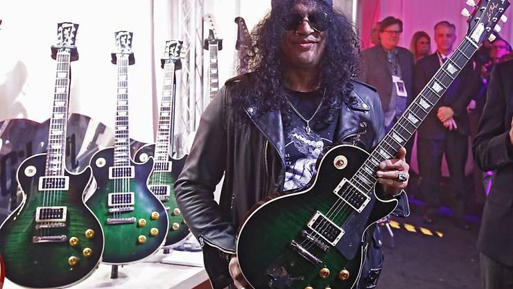 Schwört auf Gibson-Gitarren: US-Rockstar Slash. (Archivbild)