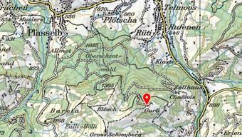 Der Mann startete vom Berghaus Gurli am Hang des Schwybergs aus.