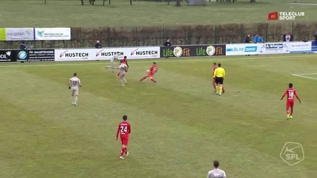 Challenge League: 20. Runde, FC Rapperswil-Jona - FC Aarau, 6. Minute, Varol Tasars Tor zum 0:1