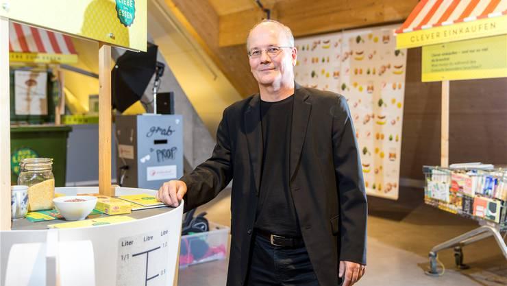 «Essen hat viel mit Nachhaltigkeit zu tun.» Max Chopard ist Projektleiter der «Food Waste»-Ausstellung. Claudio Thoma