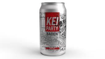 So sieht das «Kei Party»-Bier aus. Die ersten 2000 Büchsen waren schnell ausverkauft.