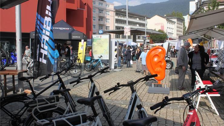 Informationen über nachhaltige Mobilität gab es am 2. Mobilitätstag vom Freitag.