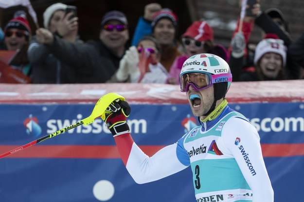 Hält dem Druck stand: Daniel Yule in Adelboden.