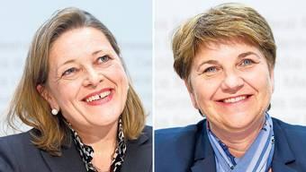 Könnte es als erste Urnerin überhaupt in den Bundesrat schaffen: Heidi Z'graggen (links). Wird im zersplitterten Wallis als solide, stille Schafferin geschätzt: Viola Amherd (rechts).