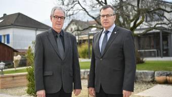 Roland Stach (rechts), neuer Synodalrat und Ruedi Köhli, neuer Präsident der Bezirkssynode Solothurn, haben ihre Ämter Anfangs Jahr angetreten.