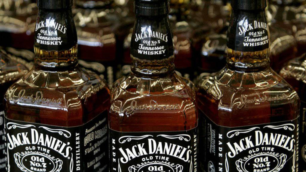 Objekt möglicher Gegenzölle: Bourbon Whiskey von Jack Daniels. (Archiv)