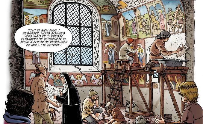 Ausschnitt aus dem Comic La Dame d'Ottmarsheim.