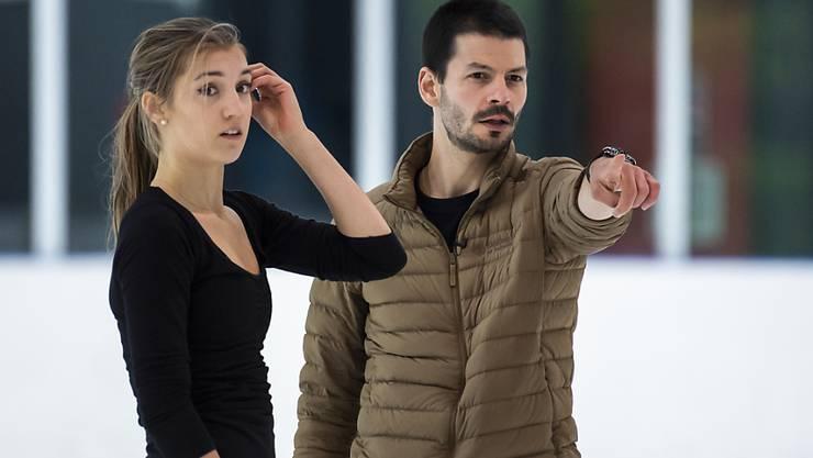 Stéphane Lambiel gibt sein Wissen nun auch an Alexia Paganini weiter