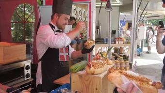 40 verschiedene Nationen bieten am Streetfood Festival in Baden ihre Spezialitäten an