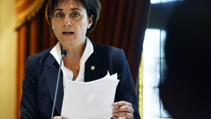 """Der Thurgauer Regierungsrätin Monika Knill ist nach dem Entscheid des Grossen Rats, das Frühfranzösisch beizubehalten, """"ein Stein vom Herzen"""" gefallen. (Archiv)"""