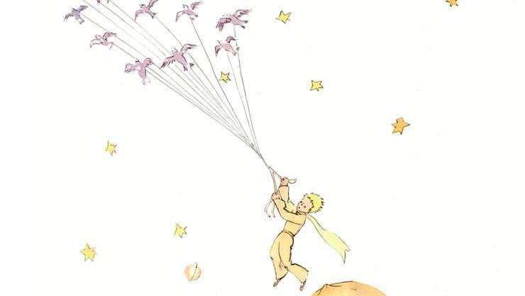 Manche Eltern finden Trost in der Vorstellung, dass ihr Kind zu den Sternen weitergeflogen ist. Szene aus «Der kleine Prinz» von Antoine de Saint-Exupéry (1943).