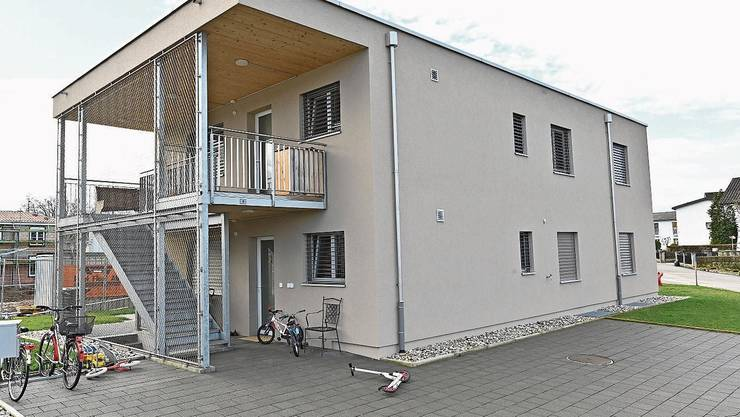 2017 baute Wolfwil eine neue Asylunterkunft am Gerstenacker.