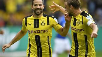 War beim 6:0-Heimsieg gegen Darmstadt zweifacher Torschütze: Gonzalo Castro (links)