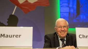 Christoph Blocher rief am Samstag vor 250 Delegierten im Unterwallis zum Kampf gegen ein institutionelles Rahmenabkommen mit der EU auf.