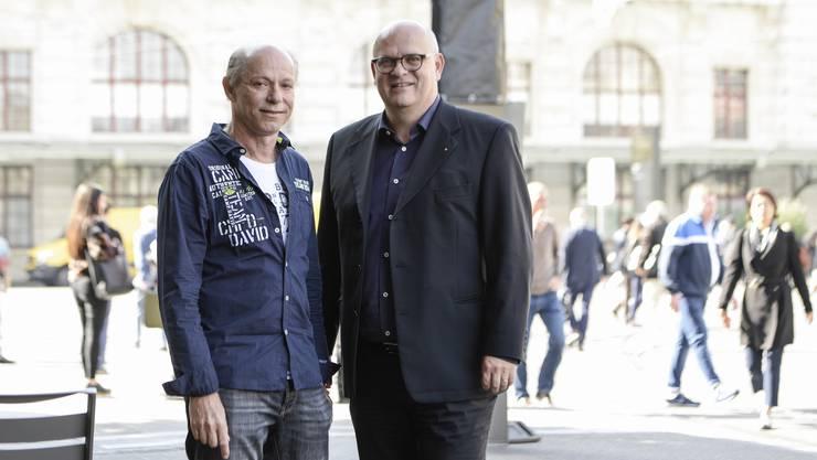Tibor Somlo (BL, l.) und Stephan Bachmann (BS) vertreten im Nein-Komitee die Privatspitäler beider Basel.