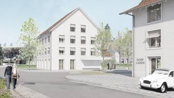 In das Gebäude rechts bei der Kreuzung Badener-/Dorfstrasse soll der Freienwiler Dorfladen einziehen.