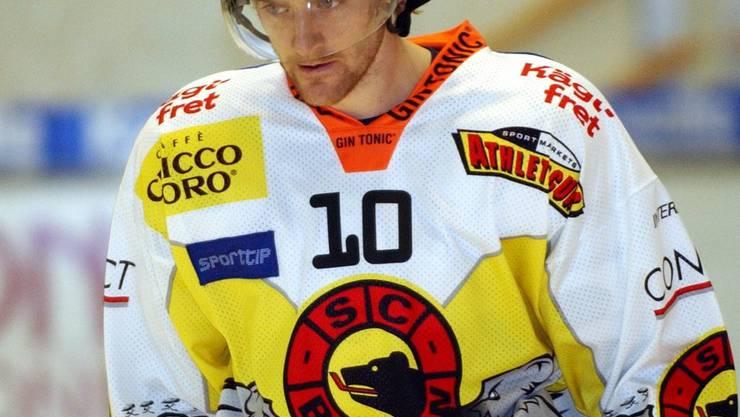 Tallinder im Dress des SCB während der Lockout-Saison 2004 2005