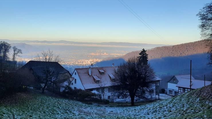 Licht und Schatten über dem Baselbiet und der Rheinebene